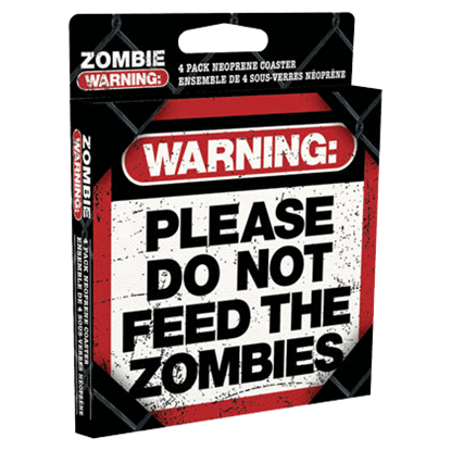 Zombie Warning Table Coasters
