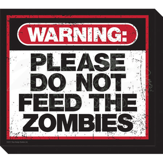 Zombie Warning Magnet