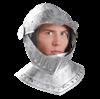 Classic Knight Costume Helmet