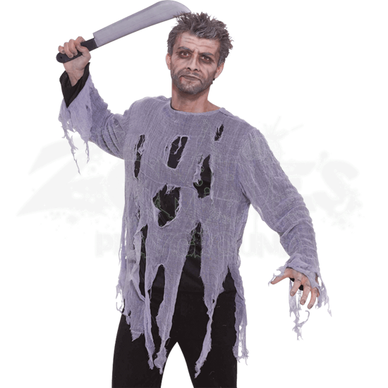 Torn Zombie Shirt Costume
