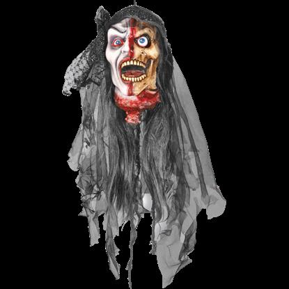 Severed Skeletal Zombie Head