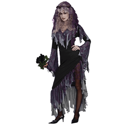 Dark Zombie Bride Costume