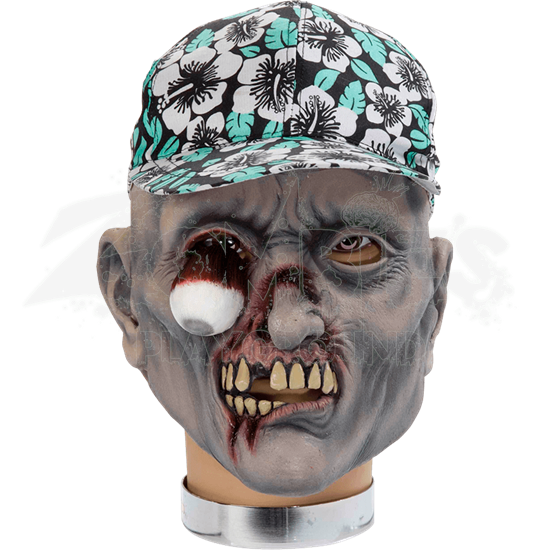 Percy Zombie Mask With Hat