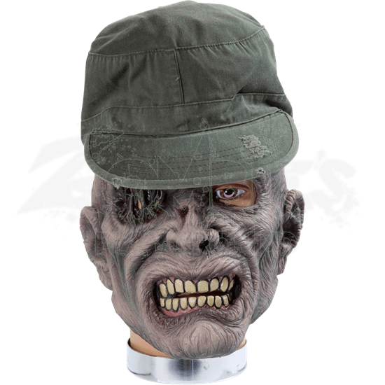 Sarge Zombie Mask With Hat