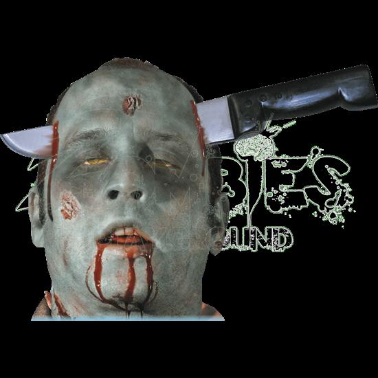 Zombie Knife Thru Head