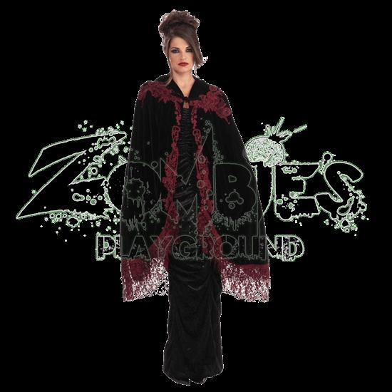 Vampire's Velvet Lace Costume Cape