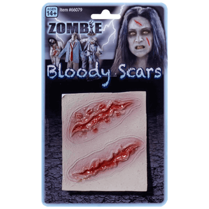 2 Bloody Zombie Scars