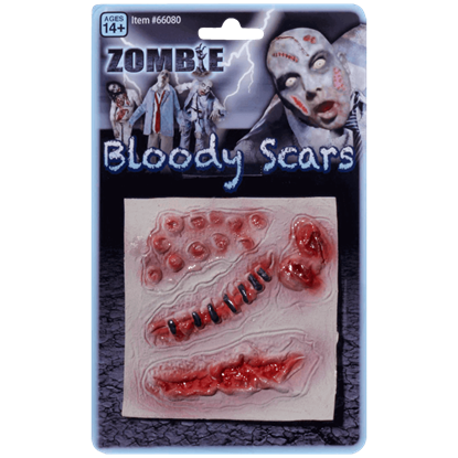4 Bloody Zombie Scars