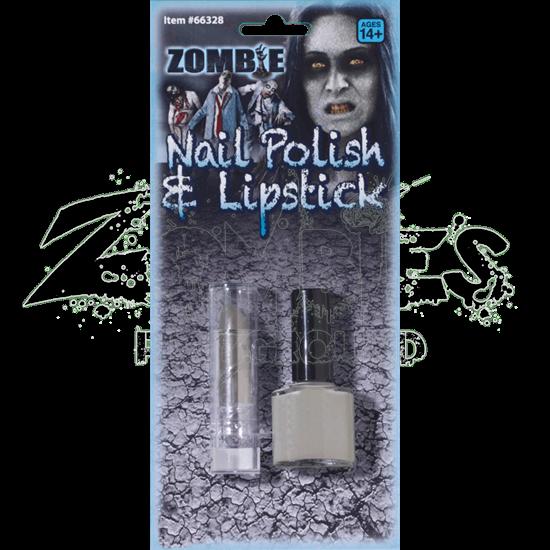 Zombie Lipstick and Nail Polish