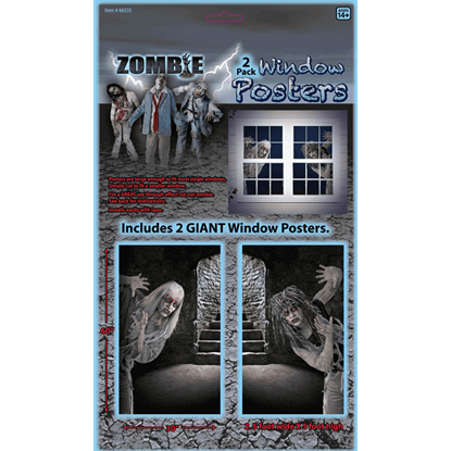 Zombie Window Poster