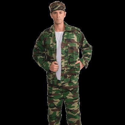 Plus Size Camouflage Combat Jacket