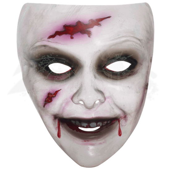 Transparent Female Zombie Mask