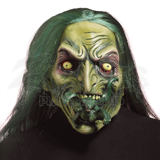 Zombie Witch With Snakes In Mouth Mask