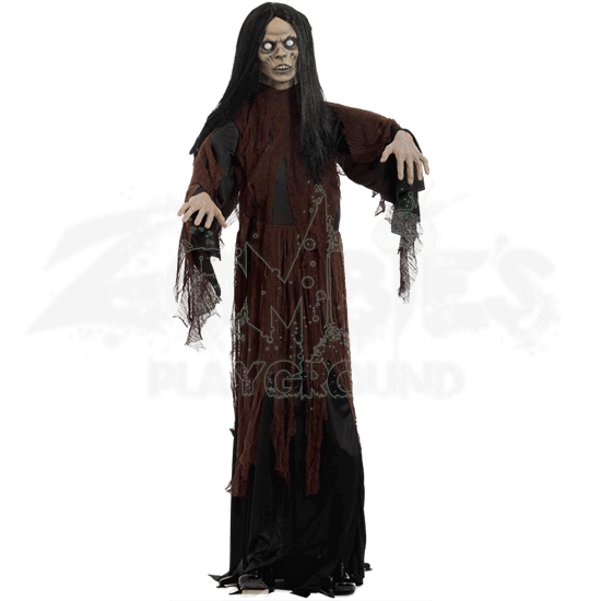 Standing Robed Zombie Woman