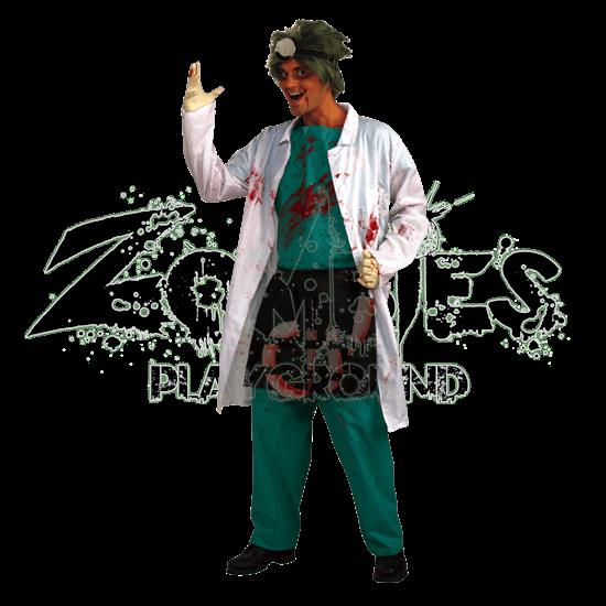 Demented Surgeon Men's Costume