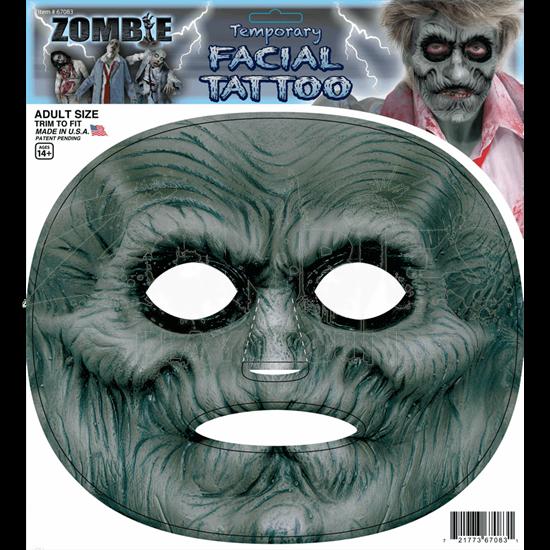 Zombie Facial Tattoo