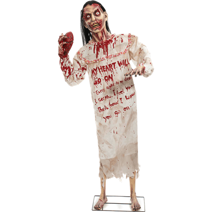 Standing Heartless Zombie Woman