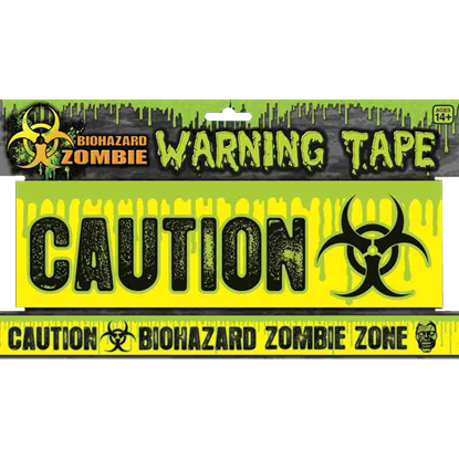 Biohazard Zombie Warning Tape