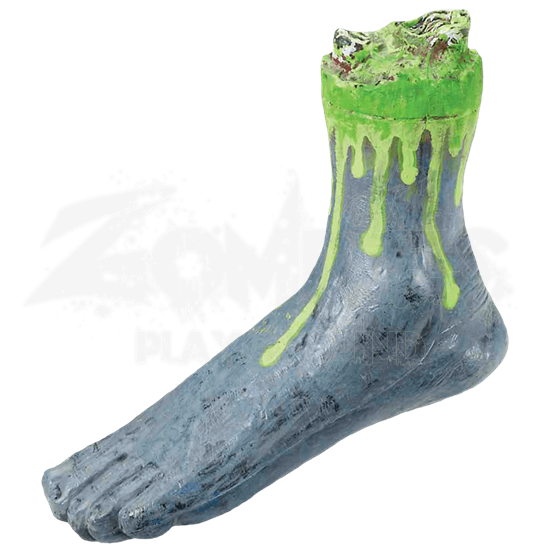Severed Biohazard Zombie Foot