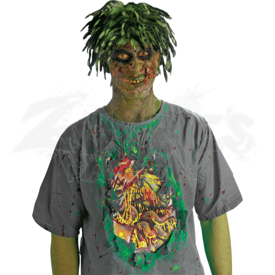Biohazard Zombie Shirt with Exposed Guts