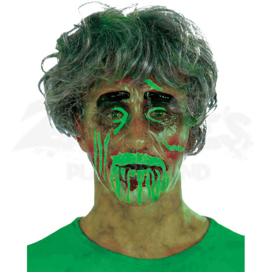Transparent Male Biohazard Zombie Mask