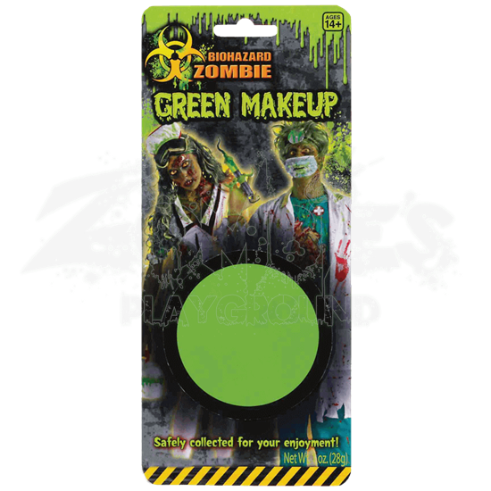 Green Biohazard Zombie Make-Up