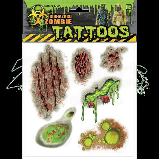 Biohazard Zombie Scar Tattoos