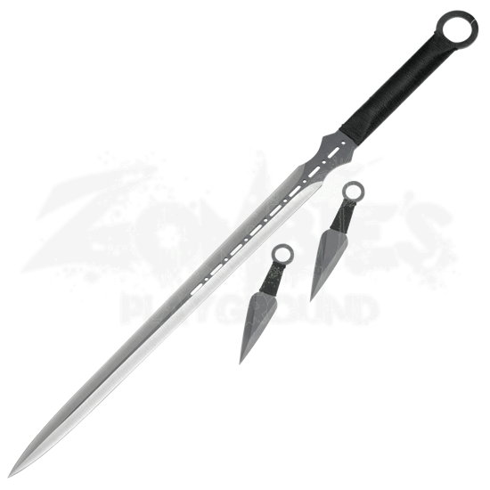 Double Edge Ninja Sword and Stealth Knives