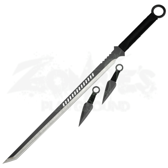 Single Edge Ninja Sword and Stealth Knives