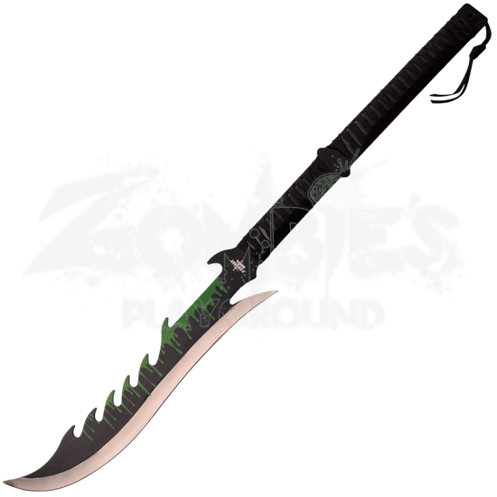 Green Blood Drip Fantasy Short Sword
