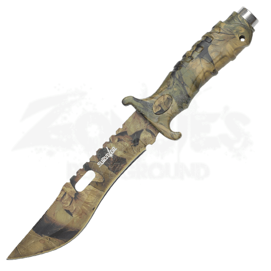 Forest Camo Survivor Knife