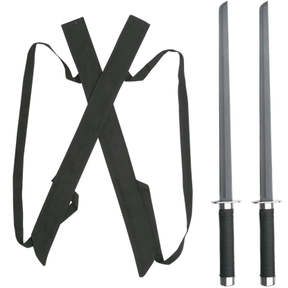 Black Twin Ninja Sword Set