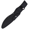 Black Swept Blade Survival Knife