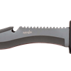 Curved Black Survivor Knife