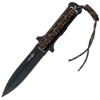 Black Paracord Survivor Spear Point Knife