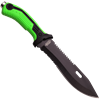 Serrated Sawback Zombie Green Knife
