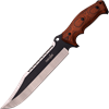 Brown Pakkawood Clip Point Survival Knife