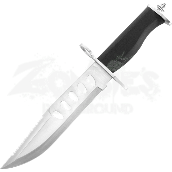 Serrated Fixed Blade Bowie Knife