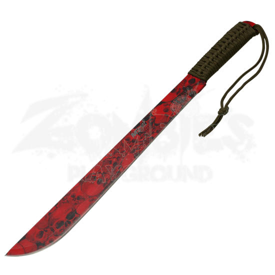 Red Skull Camo Jungle Machete