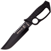 Black Sawback Knuckle Style Tactical Knife