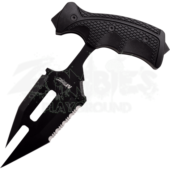 Split Black Push Dagger