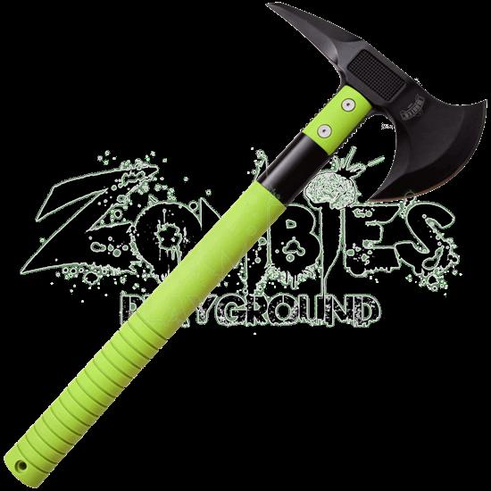 Green Tactical Battle Axe