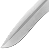 Silver Drop Point Knife
