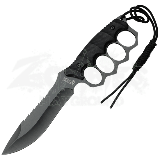 Serrated Black Knuckle Saver Knife