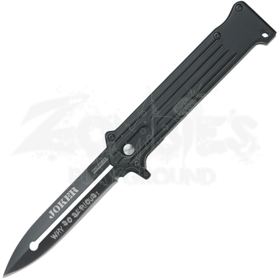 Quote the Joker Black Folding Knife