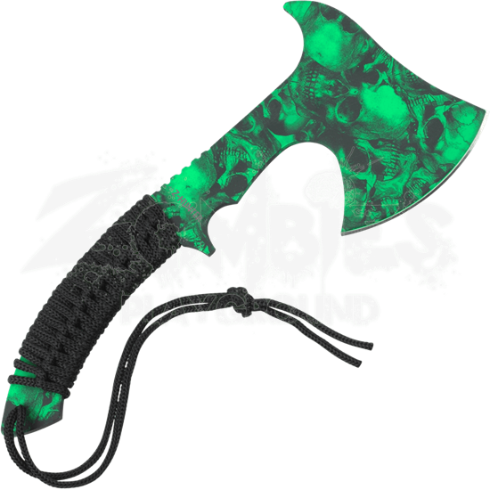 Z-Hunter Green Skull Hand Axe