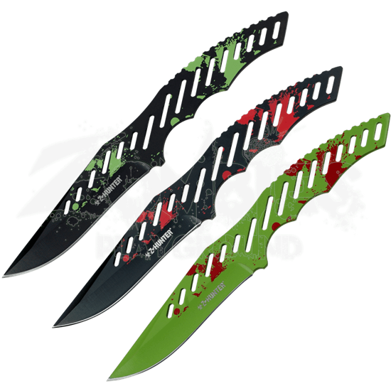 Zombie Hunter Three Piece Throwing Knife Set