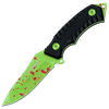 Blood Spattered Green Zombie Hunter Knife