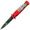 Red Skull Fold Out Knife