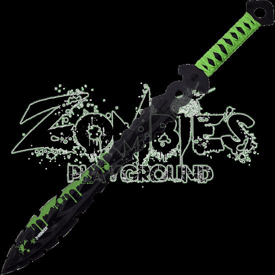 Saw Tooth Leaf Bladed Short Sword